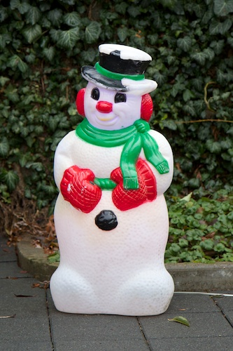 Alt The snowman, after reassembly