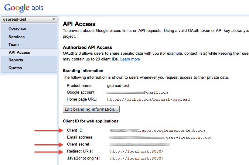 How to get OAuth access token in console? · burnash/gspread Wiki