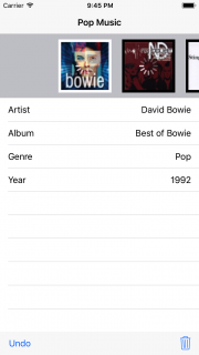 Album app showing cover art but still with spinners