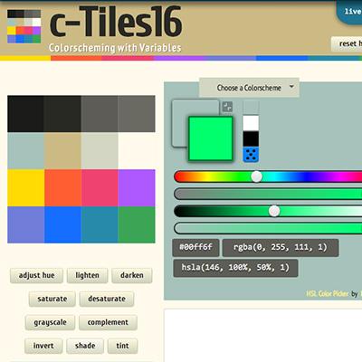 screenshot of c-Tiles16 colorschemer