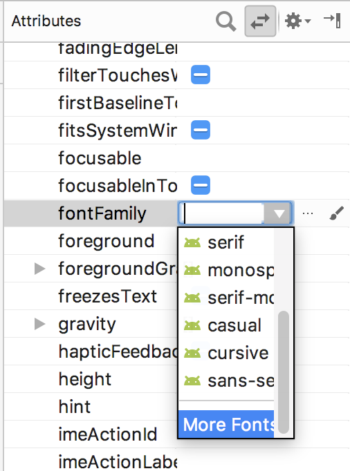 More fonts