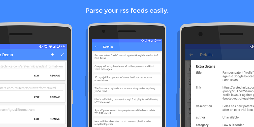 How to parse images from rss in android
