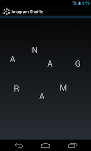 Anagram screen