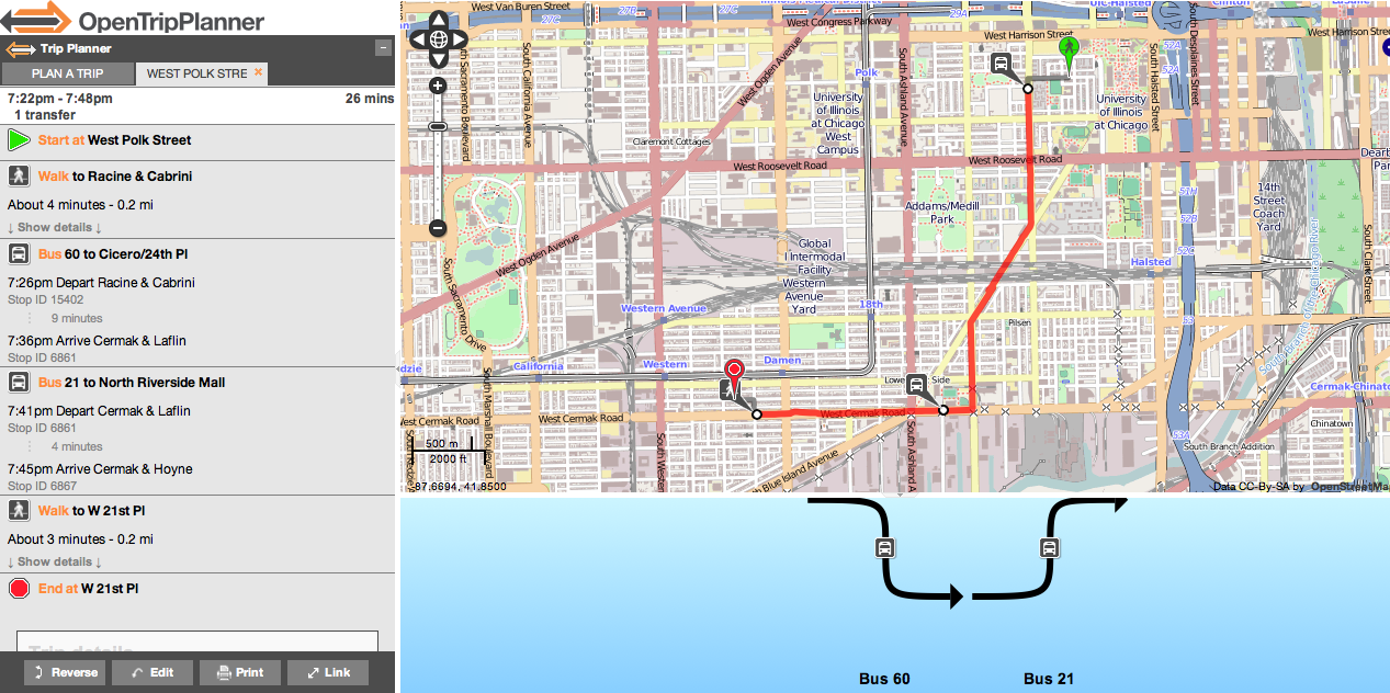 Shortest Route Between Chicago And >> GitHub - dssg/cta-otp: OpenTripPlanner tool and transit mobility maps for Chicago