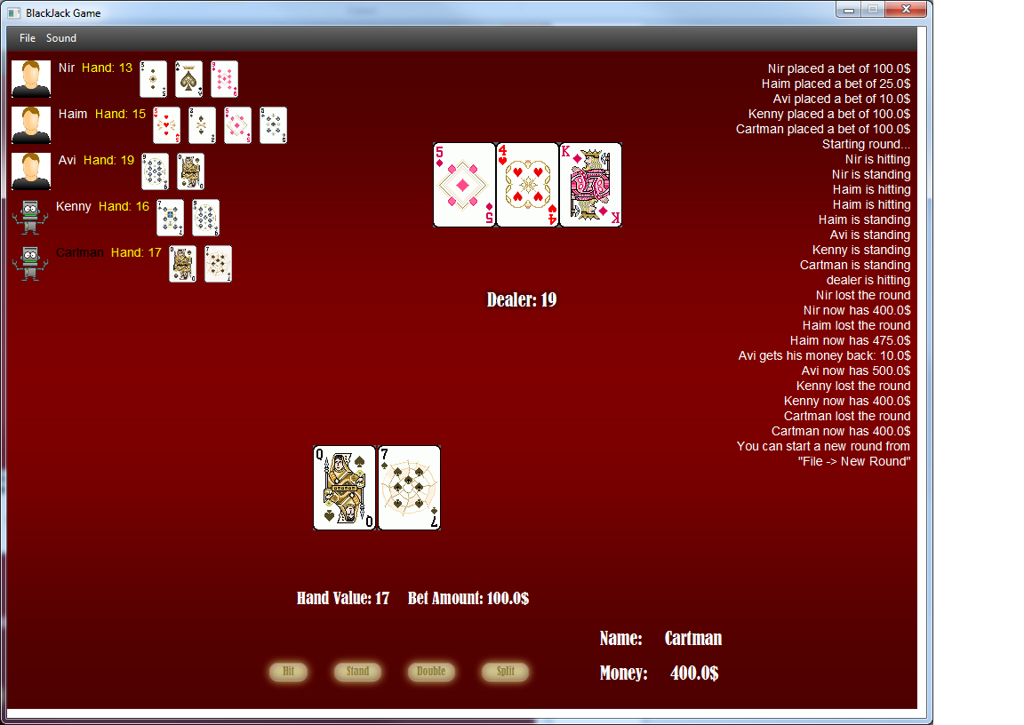 Blackjack in java