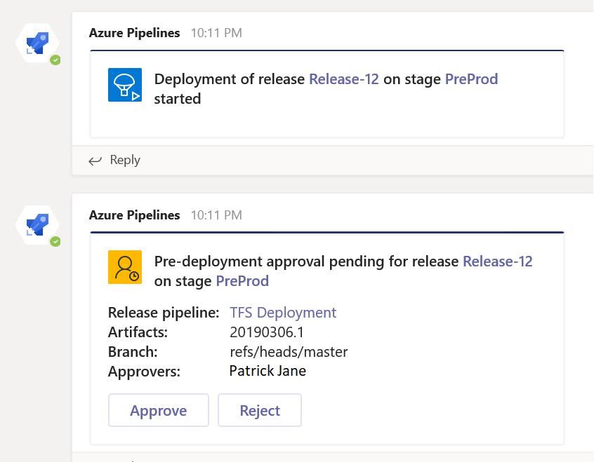 Azure Pipeline app for Microsoft Teams