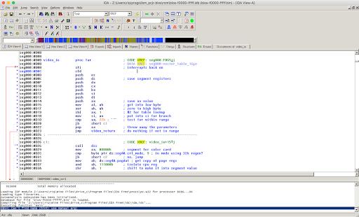IBM PCjr BIOS dump