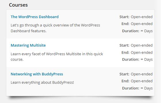 CoursePress - Instructors - Profile - Courses