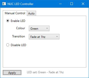GitHub - jamesbarnett91/intel-nuc-led-controller: GUI tool to