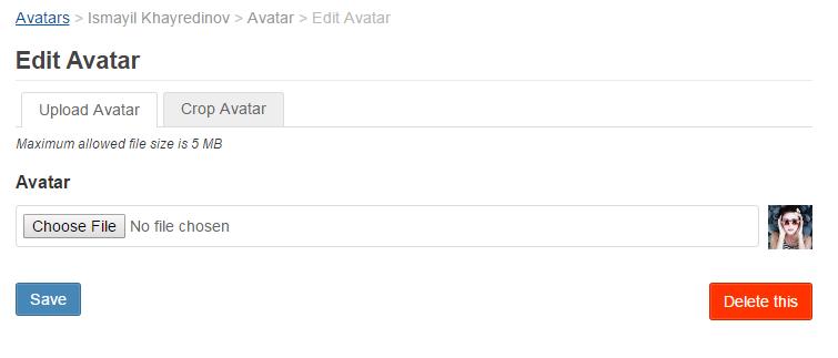 Avatar UI