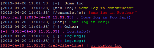 Log in other colors
