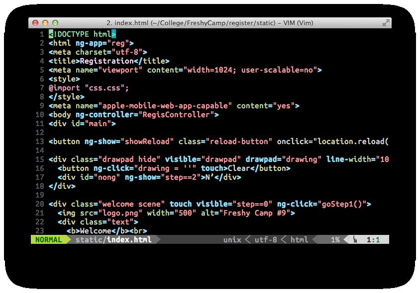 HTML Editing Screenshot