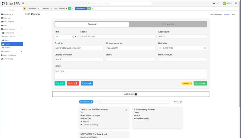 GitHub - laravel-enso/forms: Laravel Enso Form Builder is a