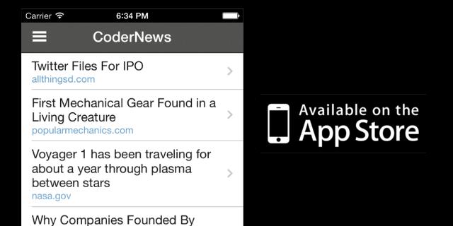 GitHub - hodgesmr/CoderNews: A simple reader for Hacker News and
