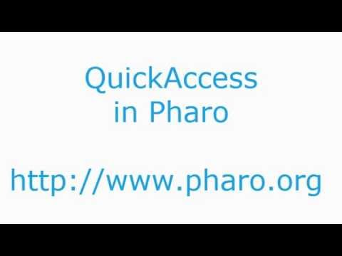 Pharo Quick Access