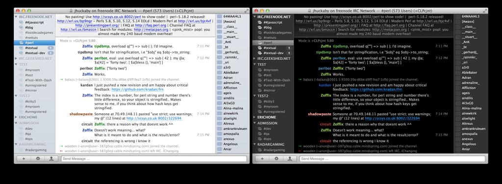 Chatter Screenshots