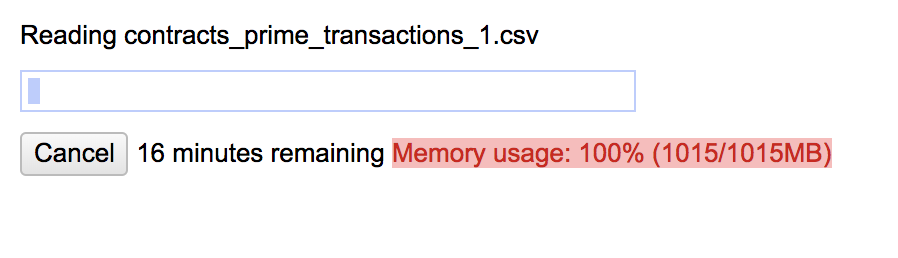 Memory usage: 100%