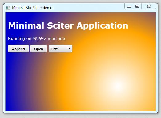 Minimal sciter sample