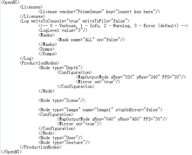 XML setting