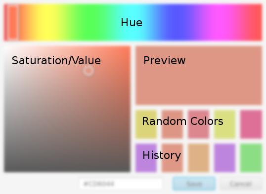 LuxColorPicker UI diagram