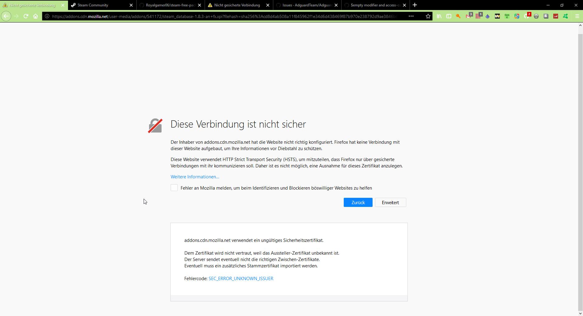 empty modifier and access-control-allow-origin header