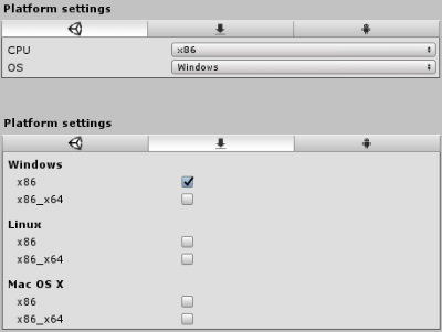 Plugin settings for x86 DLLs