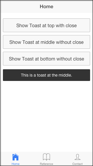 ionic-toast middle