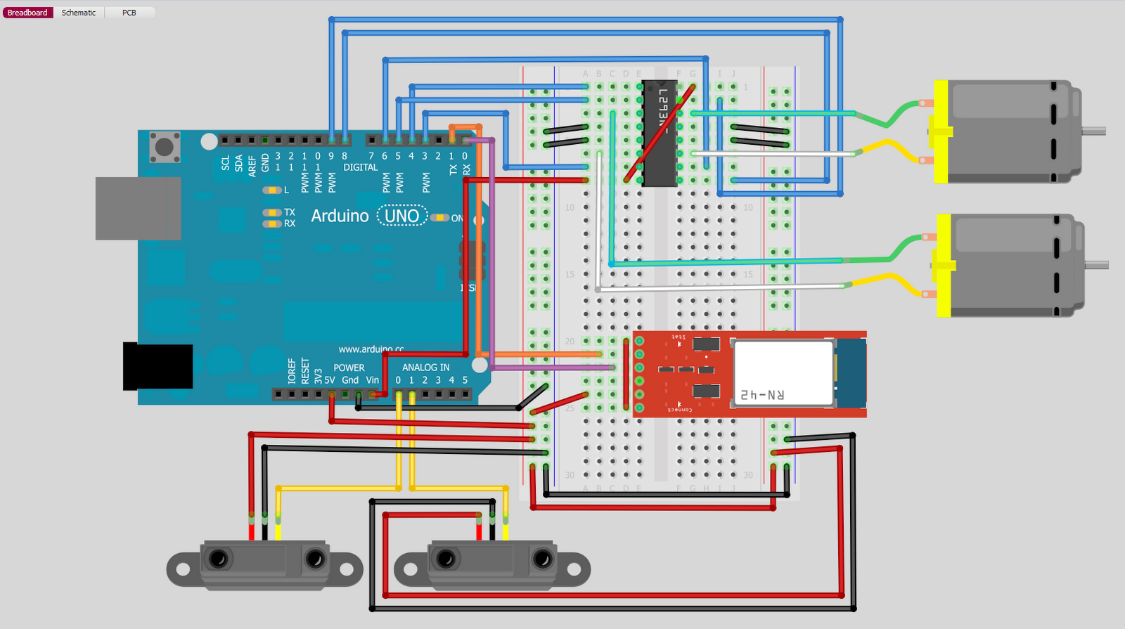 Arduino bluetooth rc car wiring diagram free