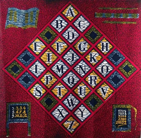 Haarlem's Alphabet textile, from a Vlisco exhibition