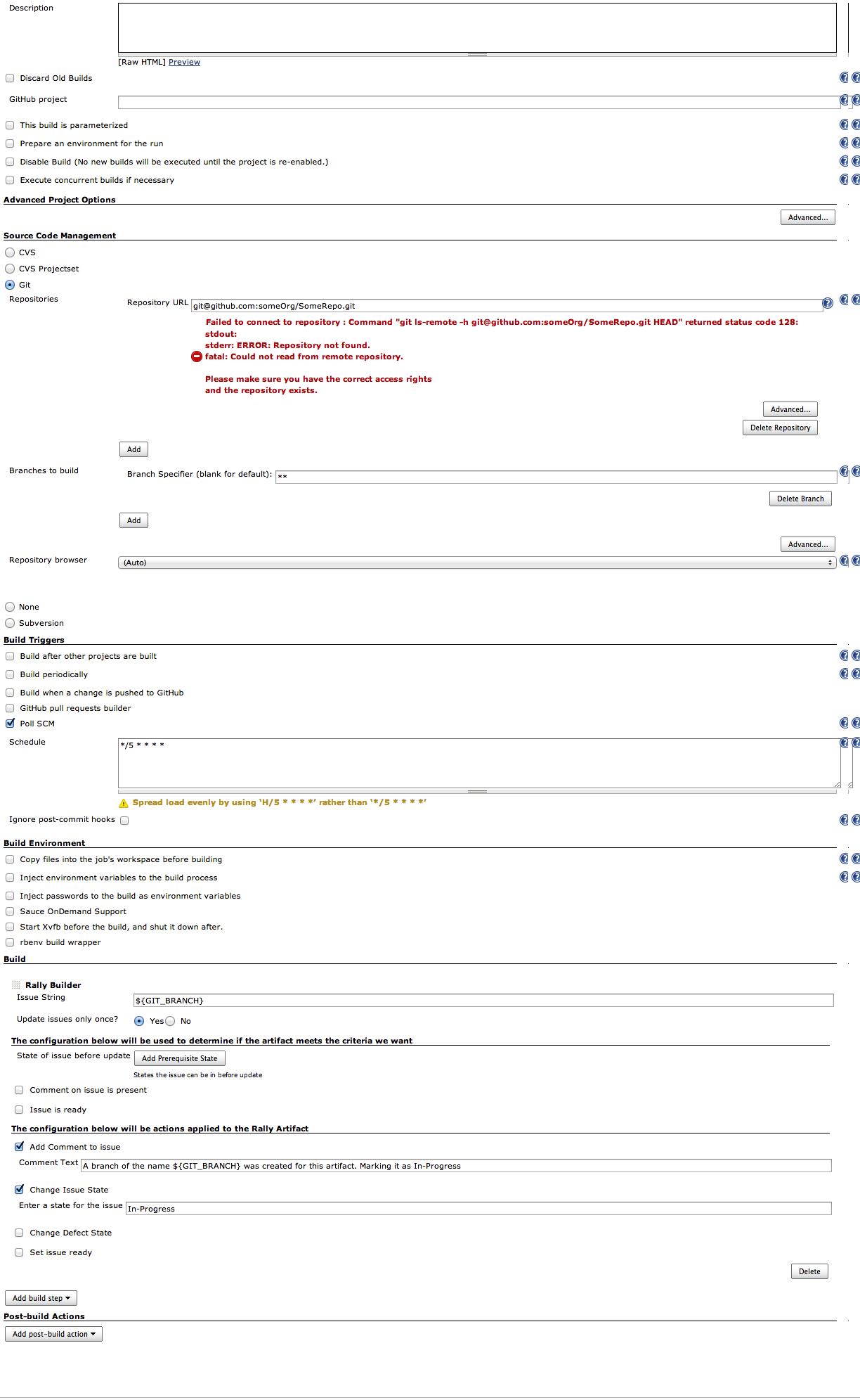 GitHub - joshughes/rallyBuild: Jenkins Plugin for Rally Artifact Actions