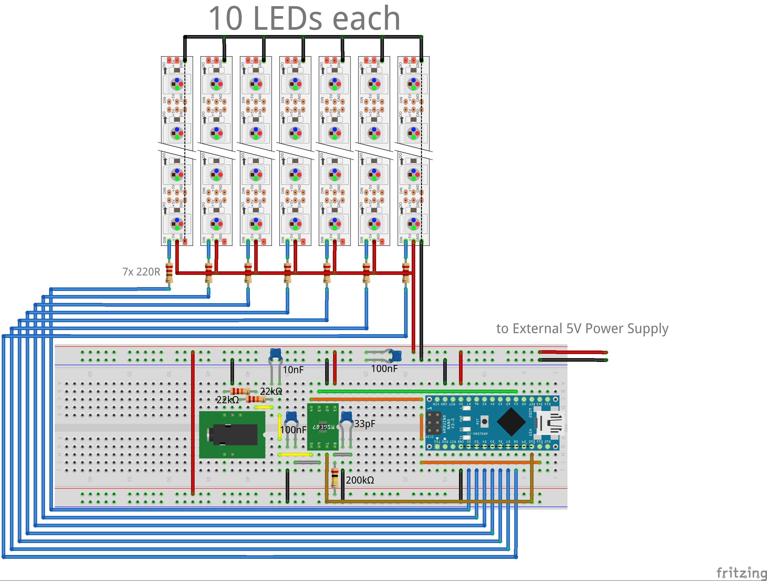 GitHub - ninharp/ninSpectrumDisplay: Arduino Library for