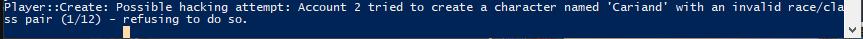 Error when creating class