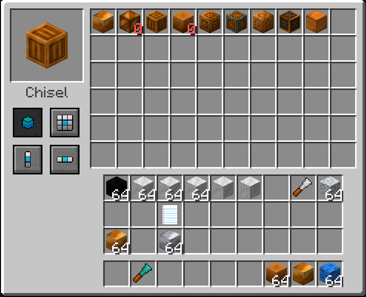 1 10 2 unable to chisel to chisel varients of raw metal blocks