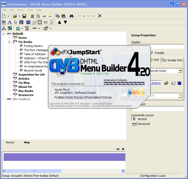 DHTML Menu Builder SE 4.20