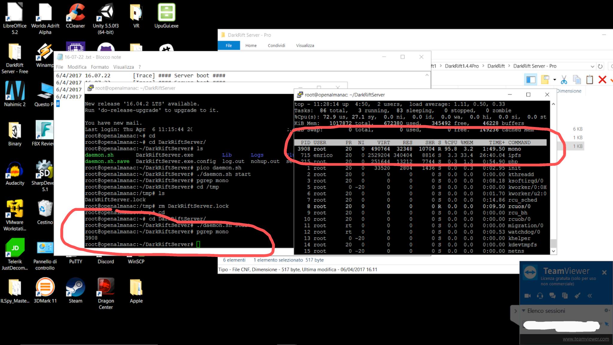 Editing DarkRift Server Daemon on Linux Ubuntu 14 04 · Vytek