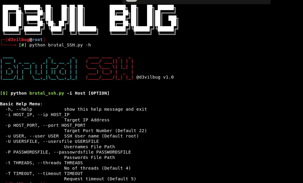 GitHub - d3vilbug/Brutal_SSH: Brutal SSH: SSH Login brute force