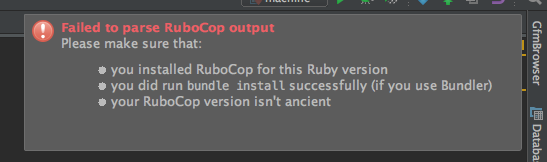 Failed to parse RuboCop output · Issue #43 · sirlantis