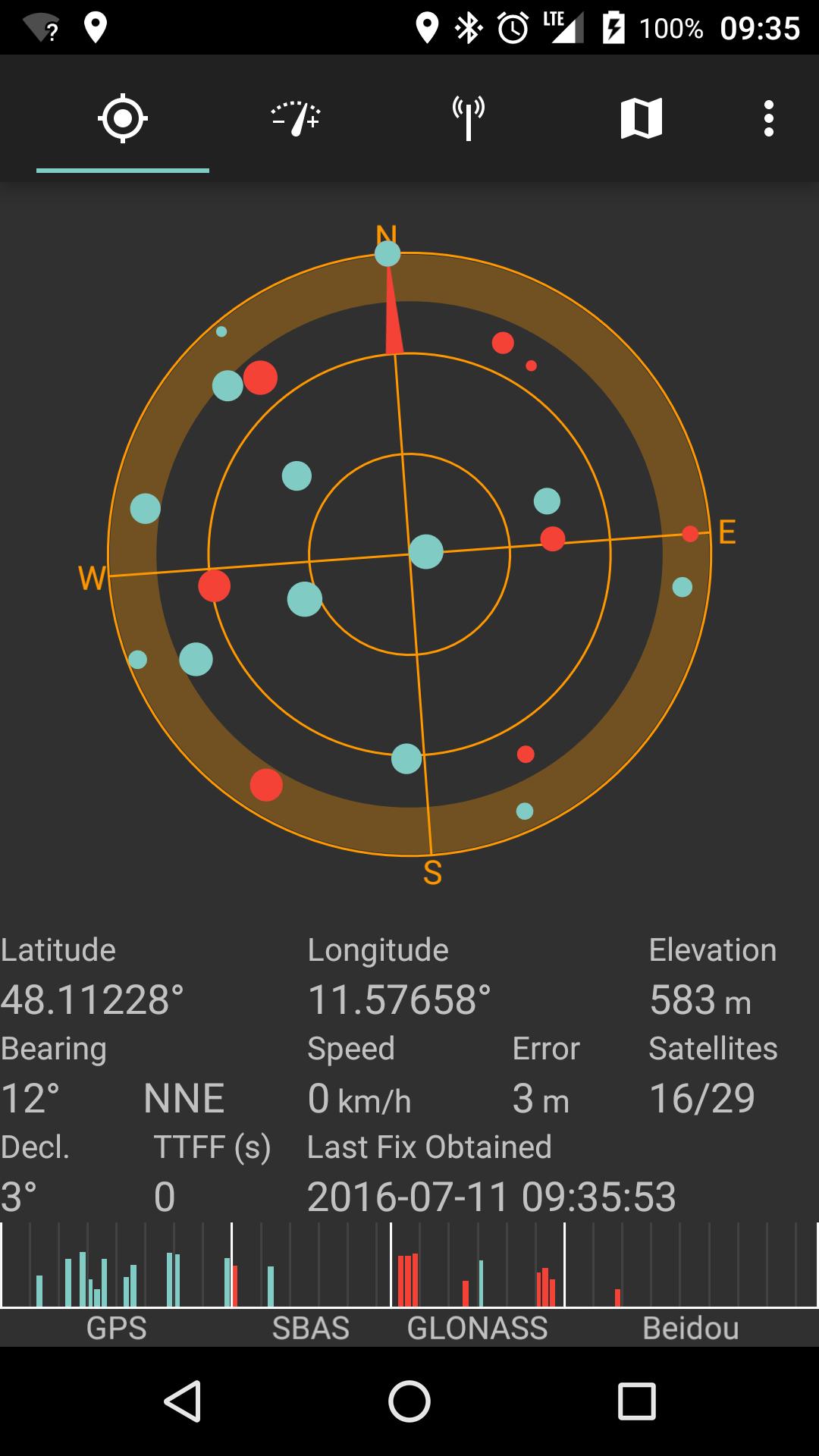 GPS view in SatStat