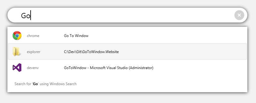 GoToWindow screenshot