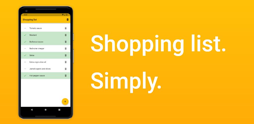 Shopping list. Simply.