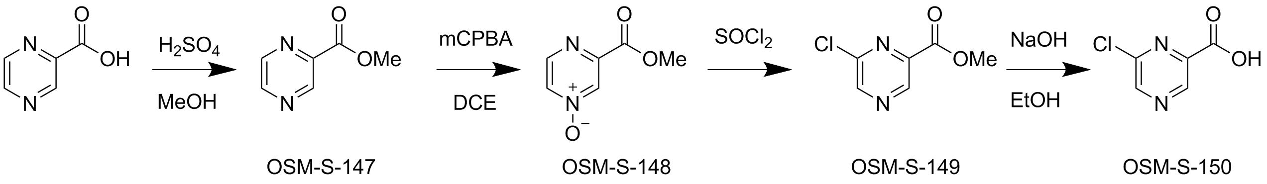 synthesis of 6-chloropyrazine-2-carboxylic acid