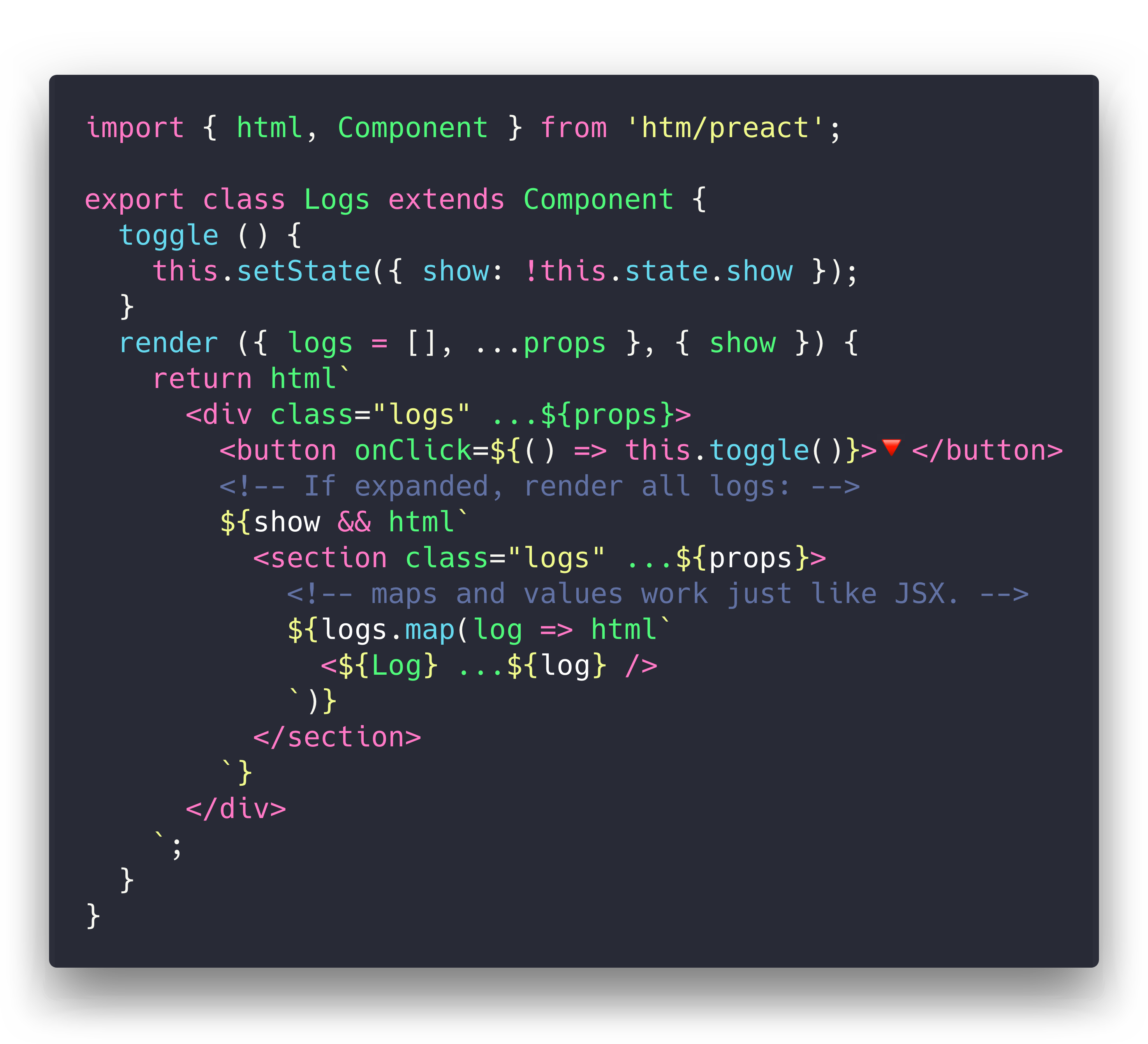 hyperscript tagged markup demo
