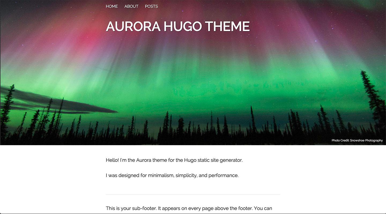 Aurora Theme Screenshot