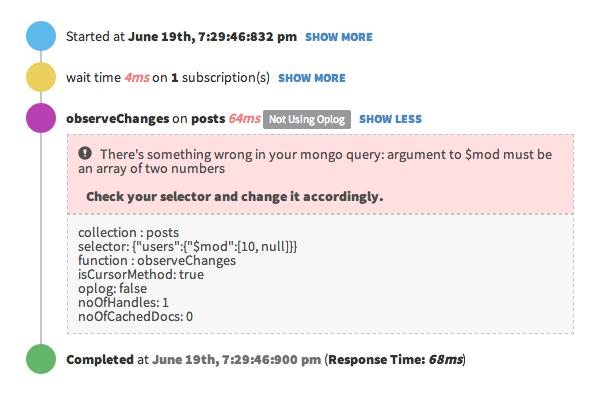 Oplog Debugging Support in Meteor APM