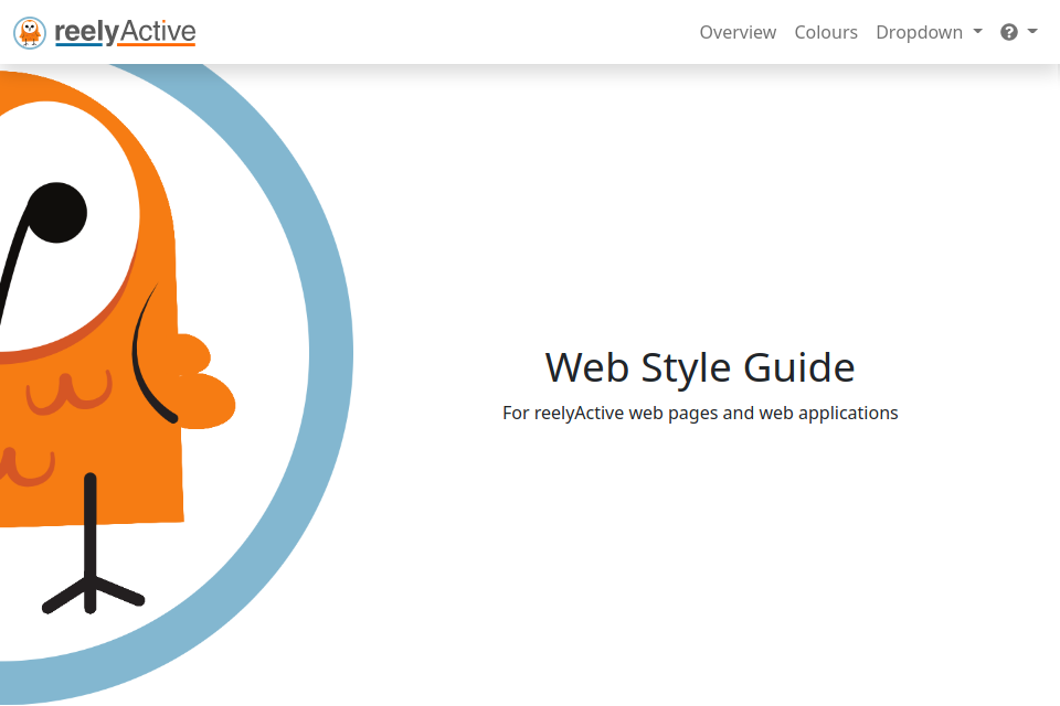 Web Style Guide Screenshot
