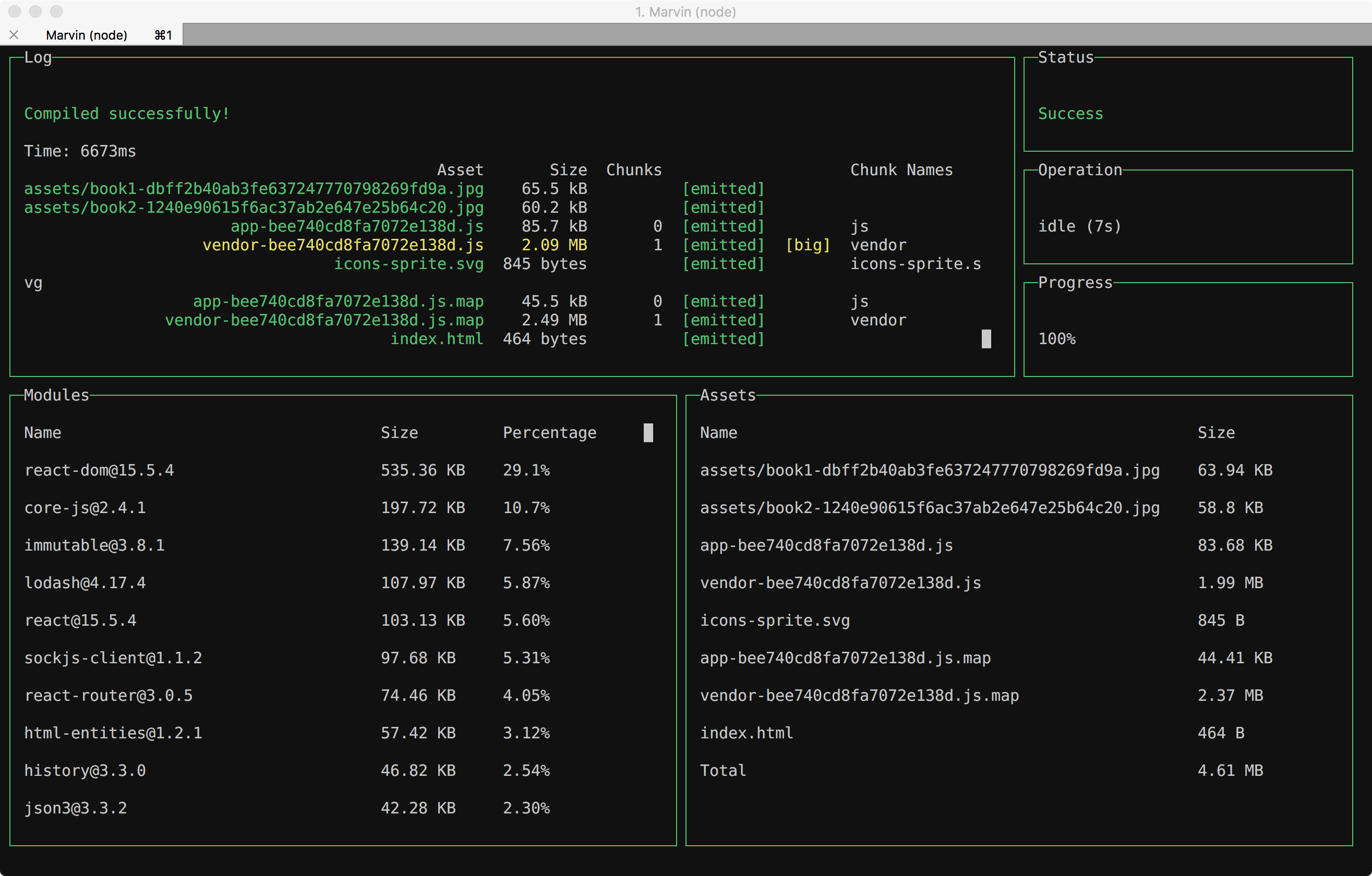 Running in the iTerm2