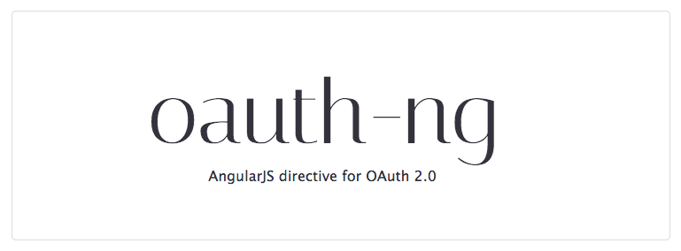 AngularJS directive for OAuth 2.0
