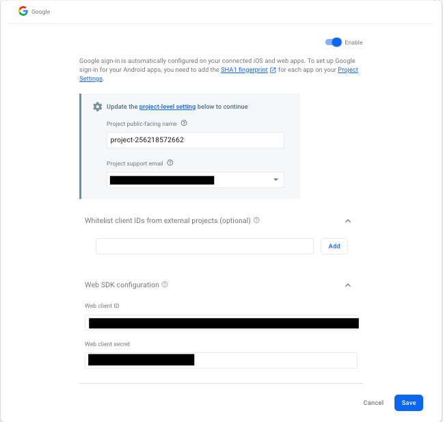 react native firebase google login