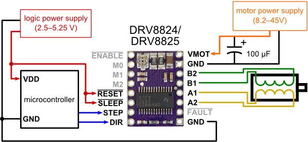 DRV8825 wiring diagram