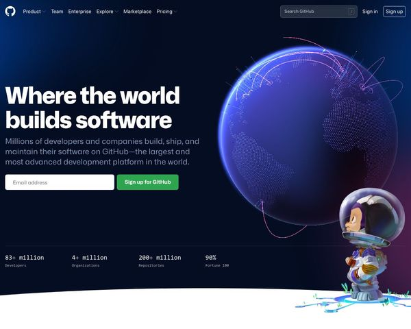 Urlbox Screenshot of github.com